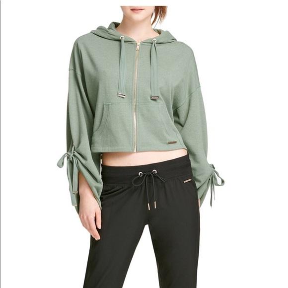 Donna Karan Jackets & Blazers - Donna Karen Zip Jacket with Hoodie Size M